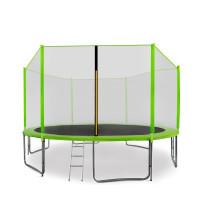 AGA SPORT PRO 400/396 cm trambulin + létra és cipőtartó - Világos zöld