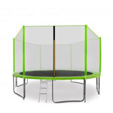AGA SPORT PRO 400/396 cm trambulin + létra és cipőtartó - Világos zöld Előnézet