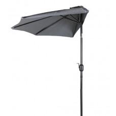 AGA félkör napernyő CLASSIC 270 cm - sötétszürke Előnézet