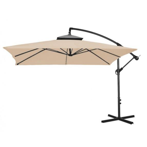 Függő napernyő 250 cm AGA EXCLUSIV CUBE - kávébarna