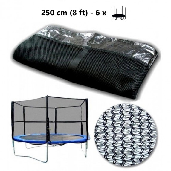 AGA védőháló 250 cm átmérőjű trambulinhoz 6 rudas - Fekete