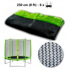 AGA védőháló 250 cm átmérőjű trambulinhoz 6 rudas - Világos zöld Előnézet