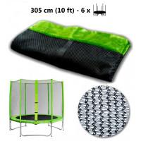 AGA védőháló 305 cm átmérőjű trambulinhoz 6 rudas  - Világos zöld