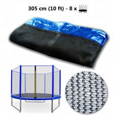 AGA védőháló 305 cm átmérőjű trambulinhoz 8 rudas - Kék Előnézet