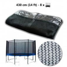 AGA védőháló 430 cm átmérőjű trambulinhoz 8 rudas  Előnézet