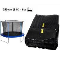 Belső védőháló 250 cm átmérőjű trambulinhoz 6 rudas AGA - Fekete