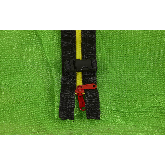 Belső védőháló 366 cm átmérőjű trambulinhoz 8 rudas  - Világos zöld