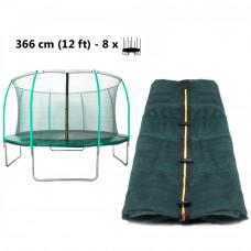 AGA belső védőháló 366 cm átmérőjű trambulinhoz 8 rudas - felső köríves - Sötét zöld Előnézet
