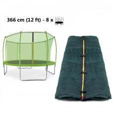 AGA trambulin belső védőháló 366 cm 8 rudas - felső köríves - Világos zöld Előnézet
