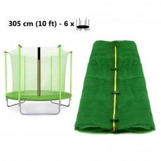 AGA trambulin belső védőháló 305 cm 6 rudas - Világos zöld Előnézet