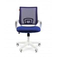 Chairman 696 modern irodai forgószék fehér vázzal-sötét kék Előnézet