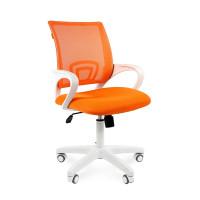 Modern irodai forgószék fehér vázzal Chairman 696 - narancssárga