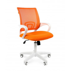 Chairman 696 modern irodai forgószék fehér vázzal-narancssárga Előnézet