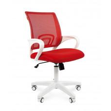 Chairman 696 modern irodai forgószék fehér vázzal-piros Előnézet