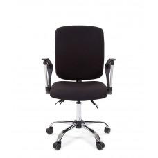 Chairman 9801chrom modern  forgószék karfával-fekete Előnézet
