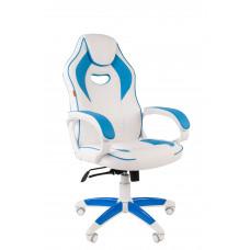 Chairman gamer szék GAME -16 - Fehér/kék Előnézet