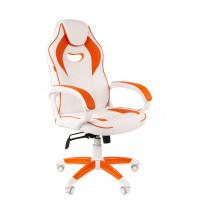 Chairman gamer szék GAME -16 - Fehér/narancssárga