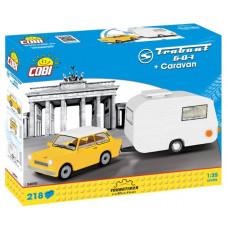 COBI 24590 Youngtimer Trabant 601 lakókocsival Előnézet