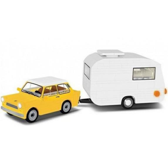 COBI 24590 Youngtimer Trabant 601 lakókocsival