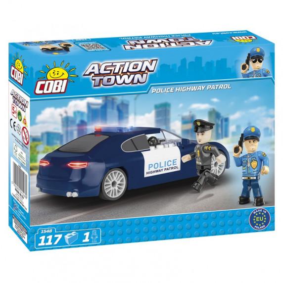 COBI 1548 Action Town Autópálya rendőr járőr