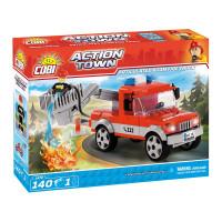 COBI 1479 Action Town Tűzoltóautó emelőkosárral