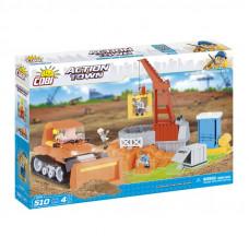 COBI 1674 Action Town Építkezés daruval és buldózerrel Előnézet