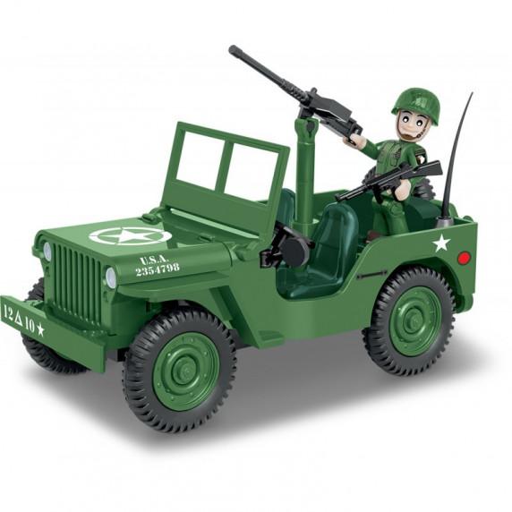 COBI 2399 Small Army World War II Willys MB 1/4 Amerikai katonai autó