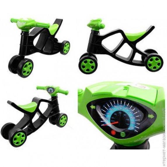 Lábbal hajtós kismotor Inlea4Fun - Fekete/zöld