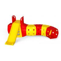 Csúszda alagúttal Inlea4Fun - sárga/piros