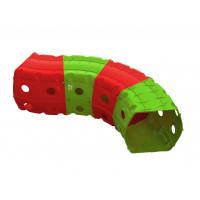 Játszó alagút 153x109x51 cm Inlea4Fun - piros/zöld