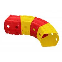 Játszó alagút 153x109x51 cm Inlea4Fun - sárga/piros