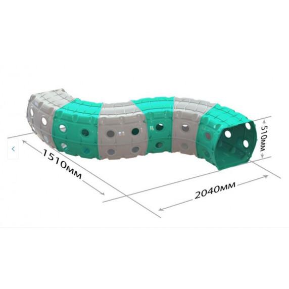 Játszó alagút 240x151x51 cm Inlea4Fun - szürke/türkiz