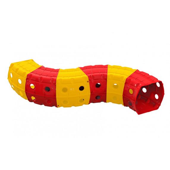 Játszó alagút 240x151x51 cm Inlea4Fun - sárga/piros