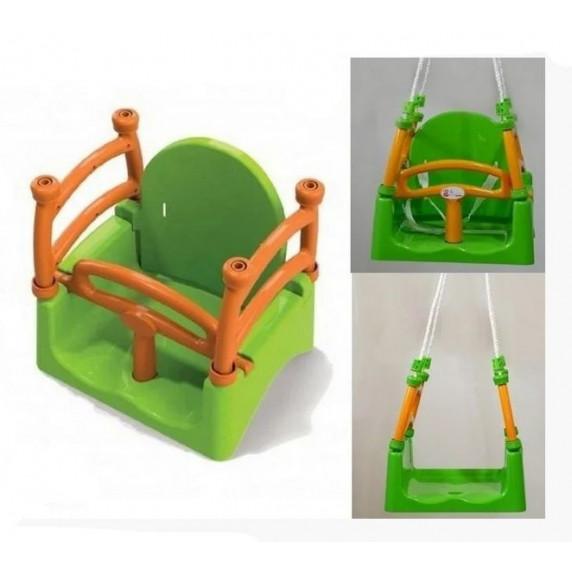 Gyerekhinta 3az1-ben biztonsági kerettel Inlea4Fun - Zöld