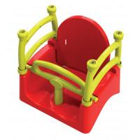 Gyerekhinta 3az1-ben biztonsági kerettel Inlea4Fun - Piros