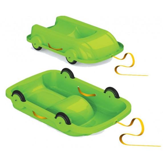 Univerzális bob szánkó gurulós kocsi 2az1-ben Inlea4Fun 460504/1 - Zöld