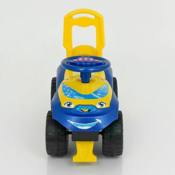 Lábbal hajtós kisautó hanghatásokkal Inlea4Fun - sárga/kék