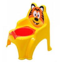 Szék formájú gyerek bili Inlea4Fun Tigrises - sárga