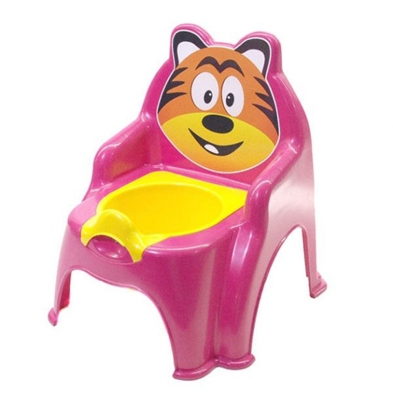 Szék formájú gyerek bili Inlea4Fun Tigrises - rózsaszín
