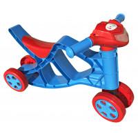 Lábbal hajtós kismotor Inlea4Fun hanghatásokkal - Kék/piros