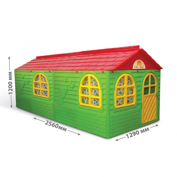 Kerti játszóház 256x129x120 cm Inlea4Fun DANUT - Zöld