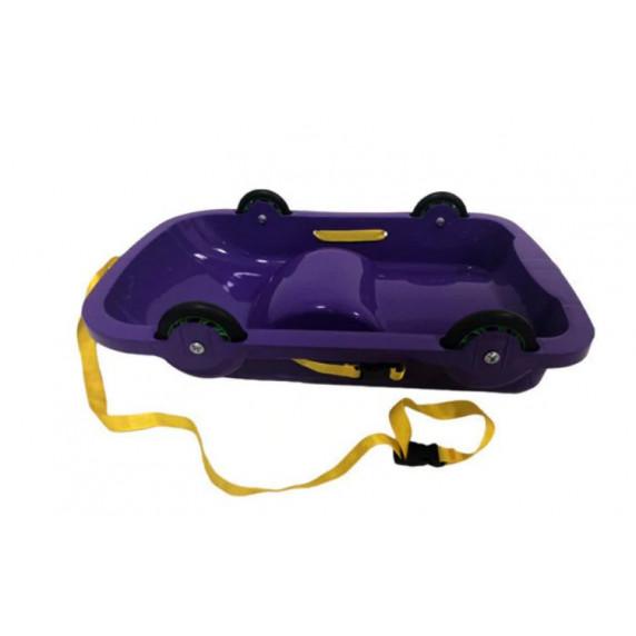 Univerzális bob szánkó gurulós kocsi 2az1-ben Inlea4Fun 460404/4 - Lila