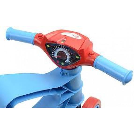 Lábbal hajtós kismotor Inlea4Fun - Kék/piros