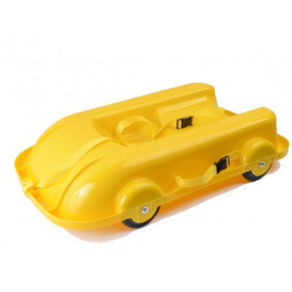 Univerzális bob szánkó gurulós kocsi 2az1-ben Inlea4Fun 460504/3 - Sárga