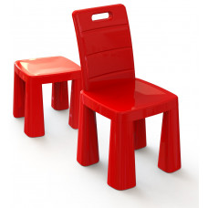 Műanyag gyerekszék Inlea4Fun EMMA - Piros Előnézet