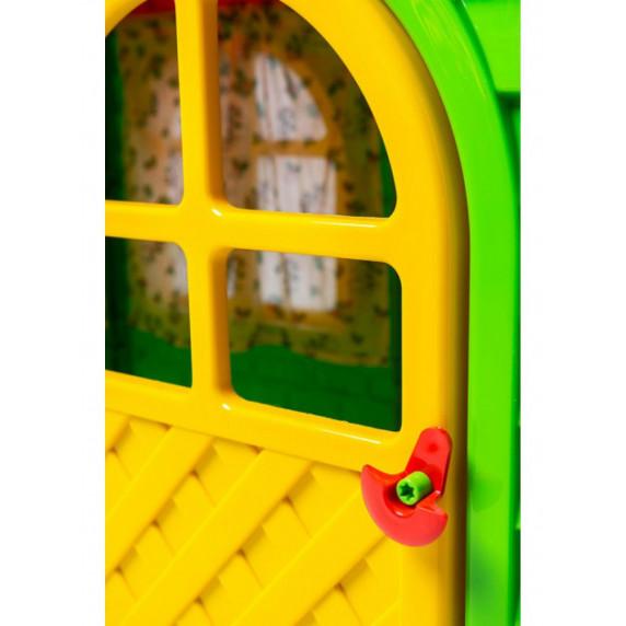 Kerti játszóház 129x129x120 cm Inlea4Fun DANUT - Zöld