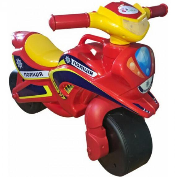 Lábbal hajtós kismotor Inlea4Fun POLICE - Piros/sárga