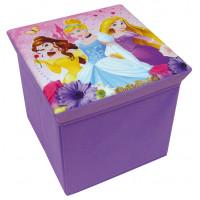 Játéktároló doboz és puff Hercegnők FUN HOUSE