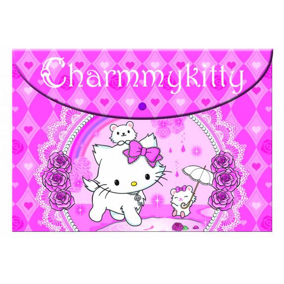 G.I.M. CHARMMY KITTY Rózsaszín iskolai szett 2020 - Gurulós iskolatáska, tolltartó, füzettartó