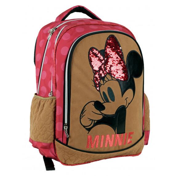 G.I.M. MINNIE Rózsaszín/barna iskolai szett 2020 - Iskolatáska, tolltartó